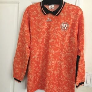 Orange Pattern Men's Soccer Shirt